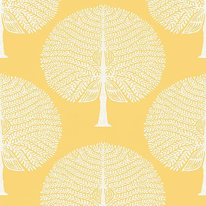 Thibaut Mulberry Tree Wallpaper in Yellow